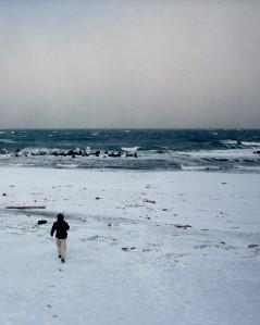 オホーツク常南ビーチ 冬